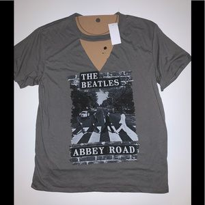 The Beatles band Abbey road cover open front shirt